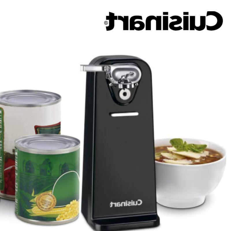 electric can opener black tall stainless steel