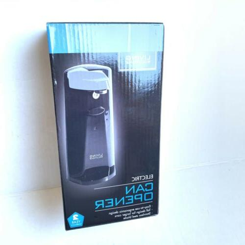 electric can opener by stainless steel blade