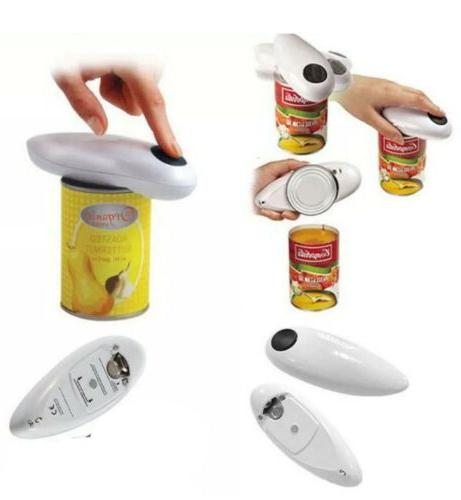 Electric Can Opener Smooth Edge Automatic One Touch Bottle J