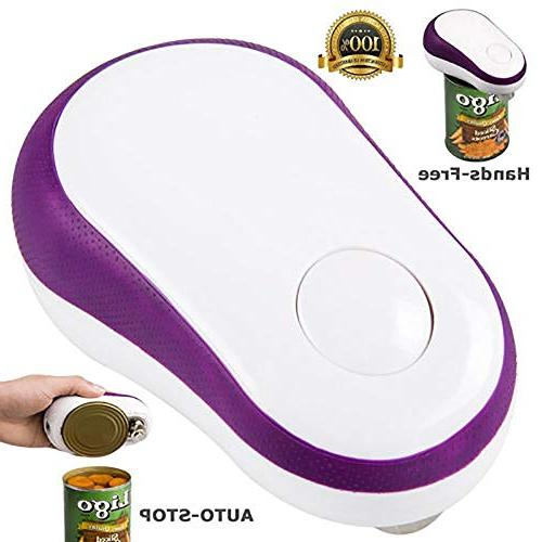 Electric Automatic Can Opener, Button Start&Auto Stop Can