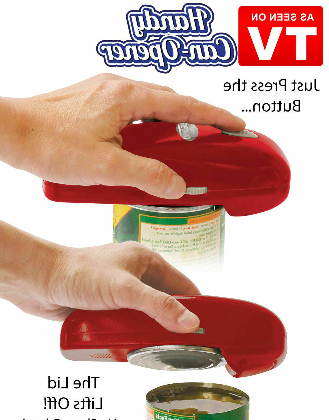 handy automatic can opener red one touch