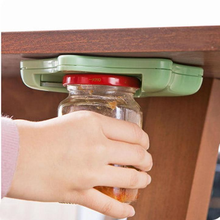 Jar Opener Under the Kitchen Cabinet Counter Top Lid Remover