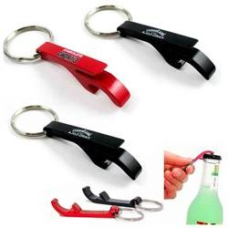 3x NEW Key Chain Aluminum Beer BOTTLE and CAN OPENER small b