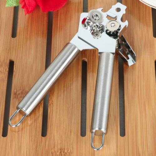 Manual Jar Lid Opener Steel Smooth Tool Silver