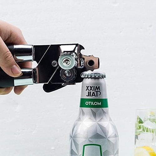 Manual Quality Built Bottle Opener, Stainless Blades Approved, Easy & Handles