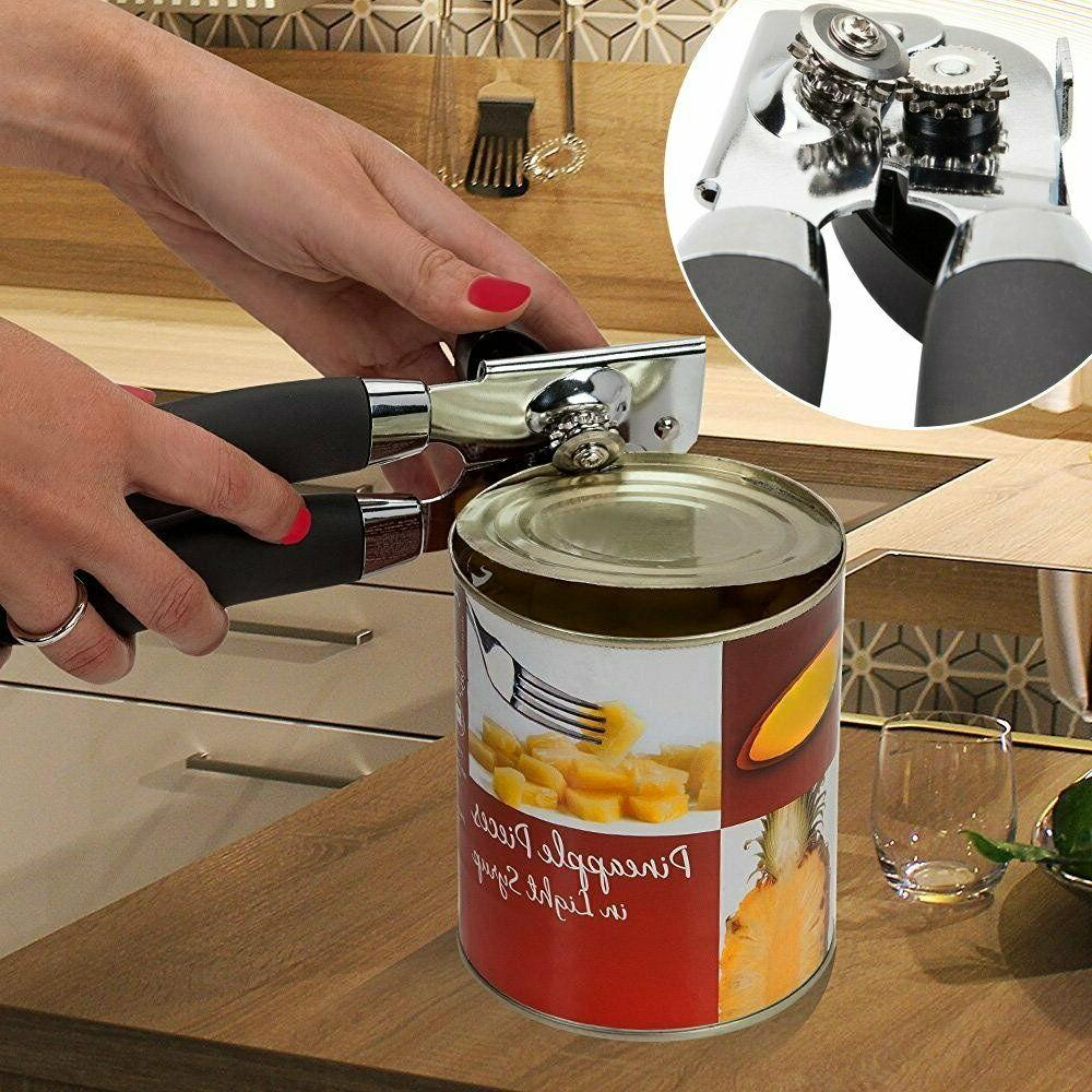 Manual Can Opener, Steel-NO Sharp Blade, Tin Can