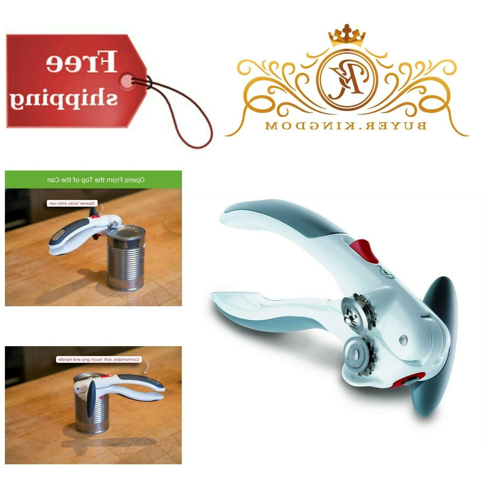 Manual Can Opener Stainless Steel With Lid Lifter Magnet Com