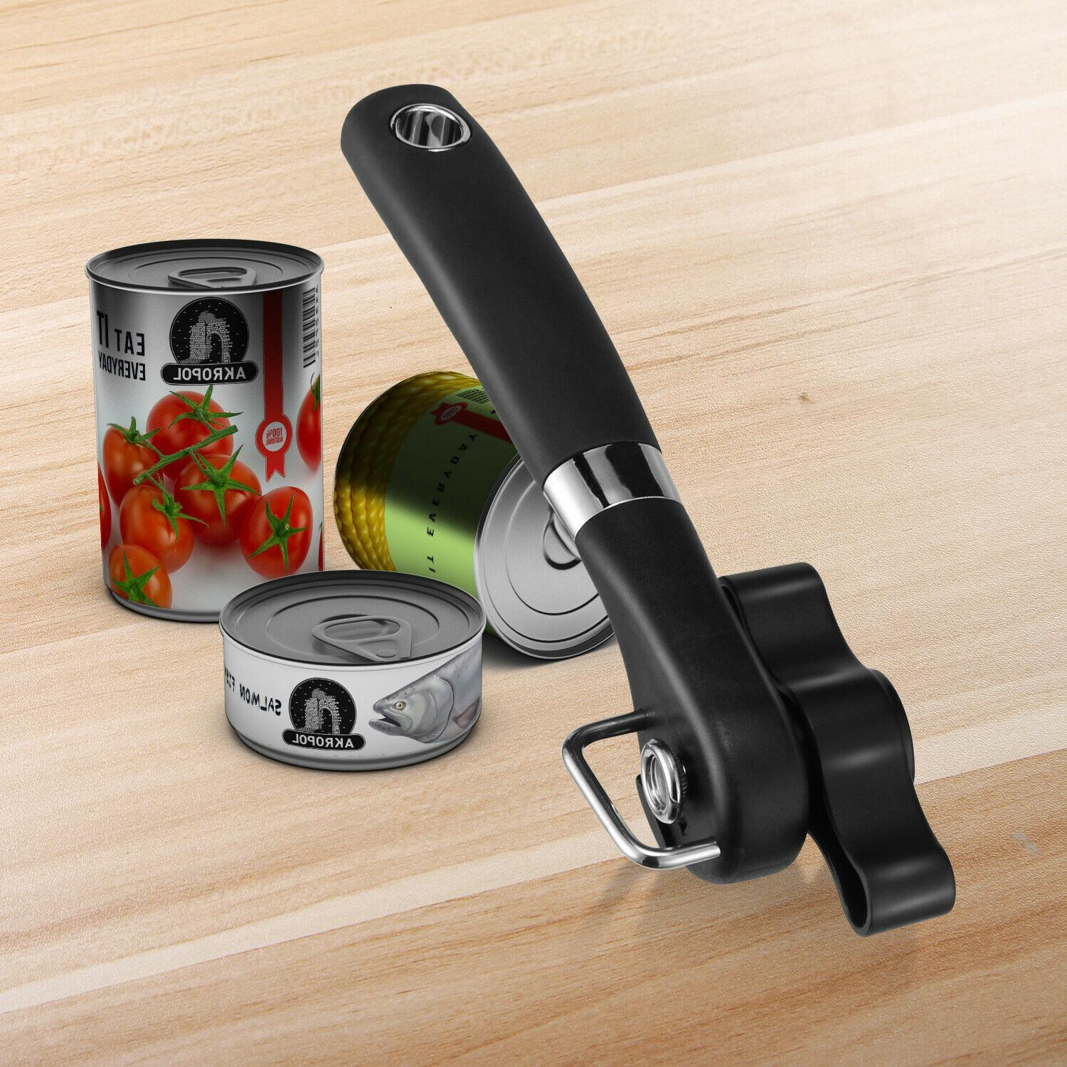Professional Manual Tin Can Opener Safe Cut Lid Smooth Edge