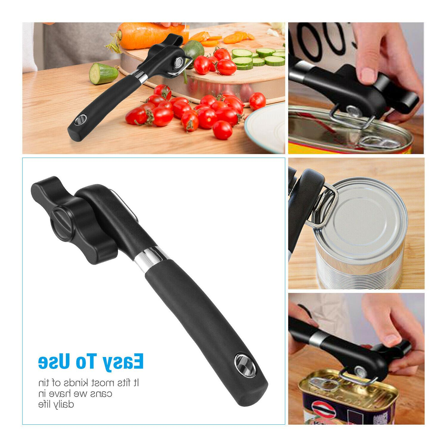 Manual Can Opener Safe Lid Smooth Edge Side Steel Tools