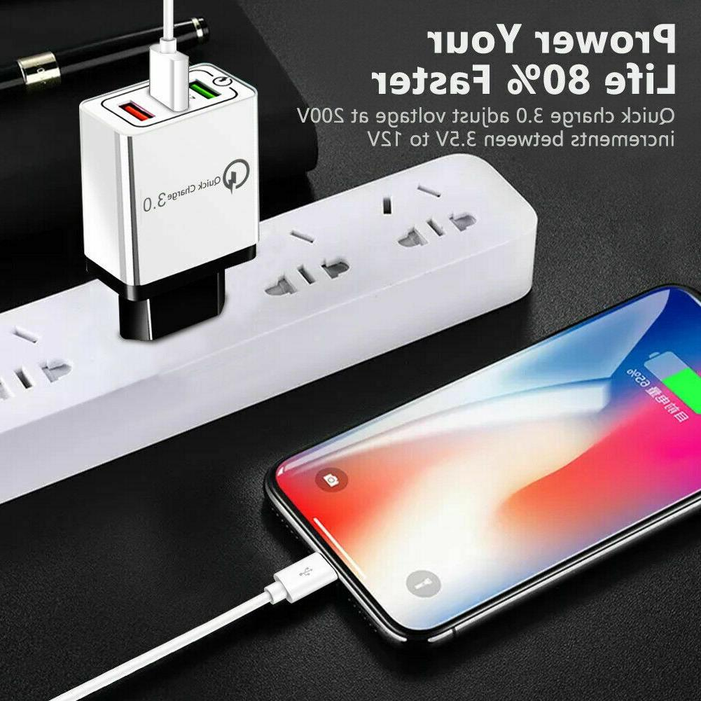 4 Multi-Port Quick Charge USB Adapter US