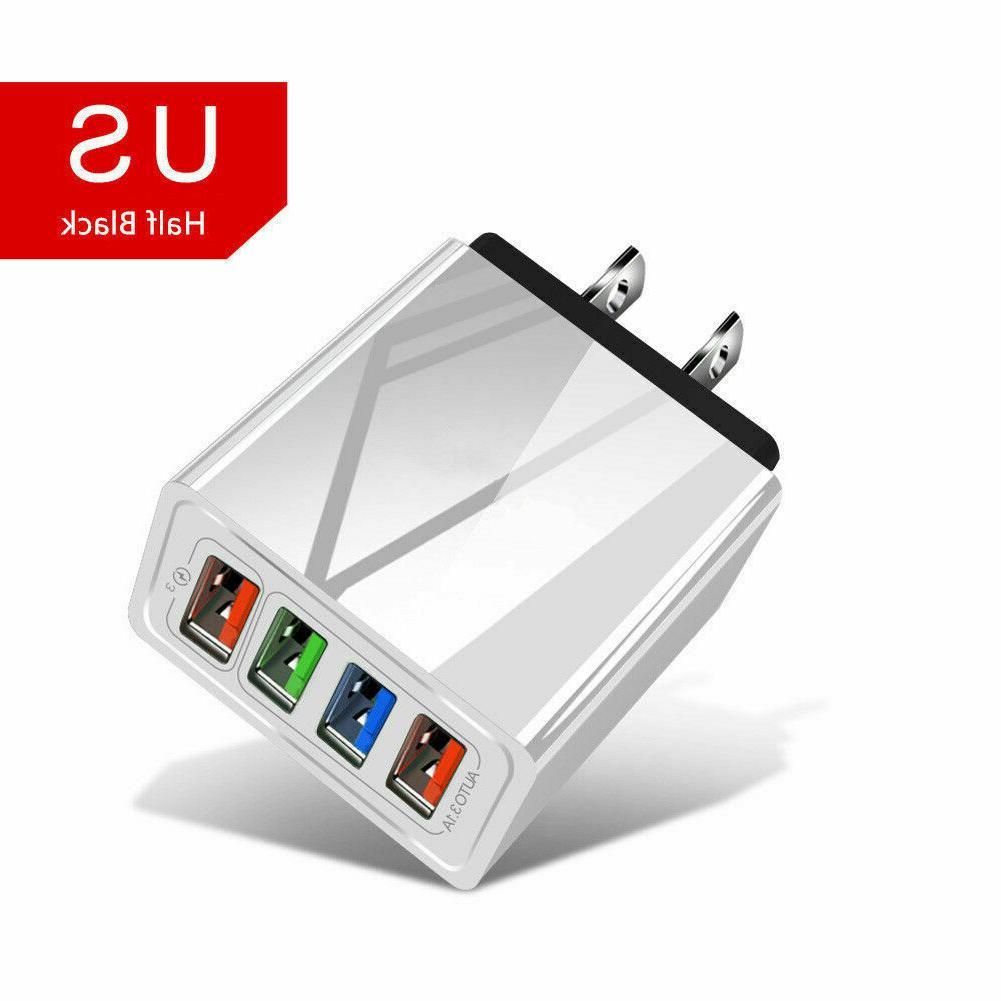 4 Fast Quick Charge 3.0 USB Hub Power US