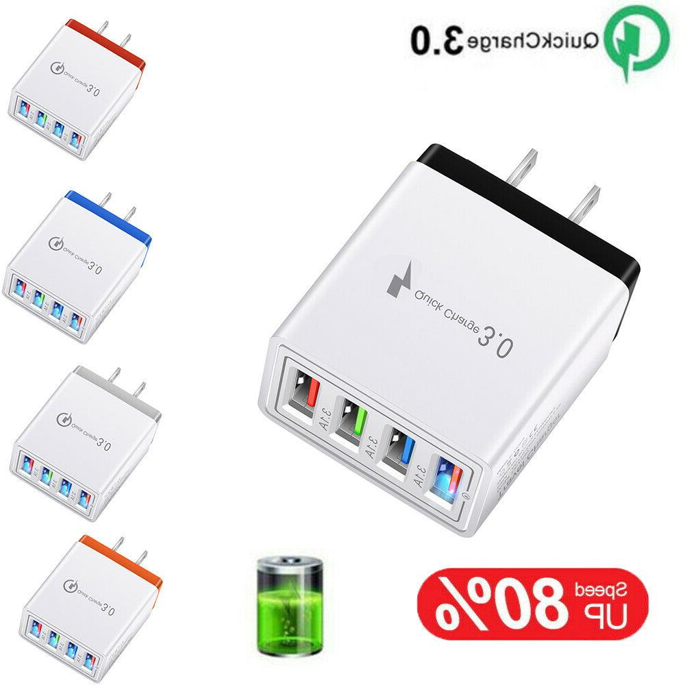 4 multi port fast quick charge 3