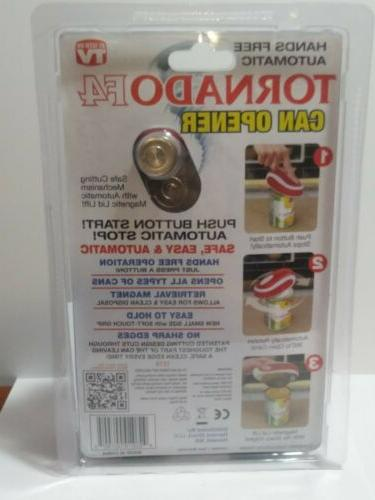 New TORNADO FREE AUTOMATIC CAN OPENER Harvest As Seen On