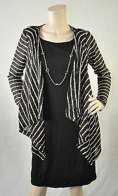 Jessica Howard NWT Knit Striped Draped Necklace Detail Dress