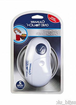 one touch automatic can opener white free
