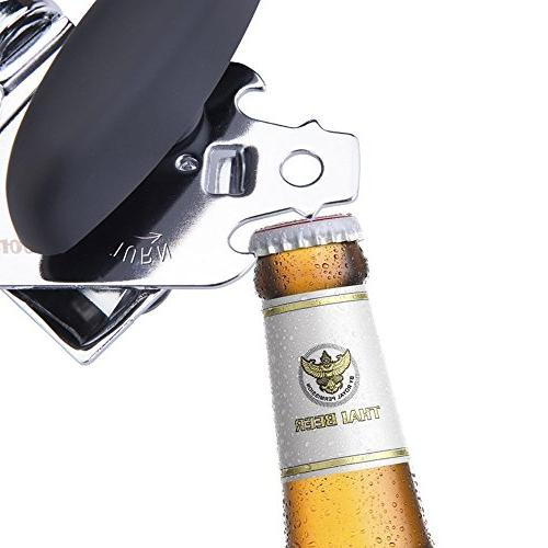 Manual Can Premium Heavy Steel Blades, Built in Bottle Opener, Smooth Approved