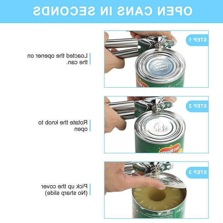 PREMIUM CAN OPENER Stainless Steel Heavy Duty Strong Professional Chef