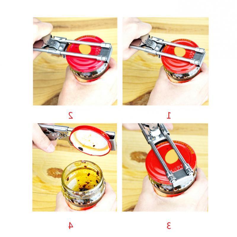 Professional Adjustable Manual Stainless Jar Lid <font><b>Opener</b></font> Gripper <font><b>Can</b></font> <font><b>Opener</b></font> Kitchen supplies