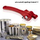 Red Ergonomic Smooth Edge Side Cut Manual Tin Can Opener Can