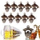 10X Rustic Cast Iron Beer Wine Bottle Opener Red Bronze Wall