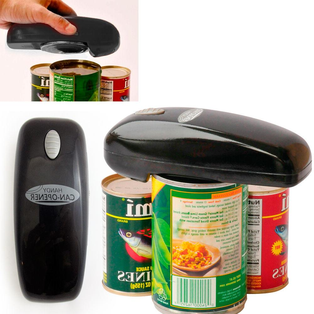 Handy Can Opener, Black, As Seen on TV Automatic Hands-Free