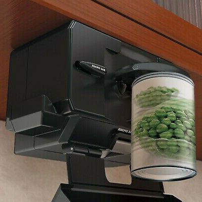 Spacemake Multi-Purpose Can Opener Black Under Counter Black