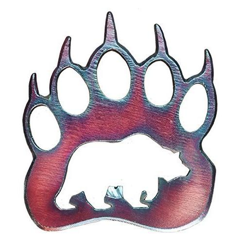 steel grizzly paw bottle opener