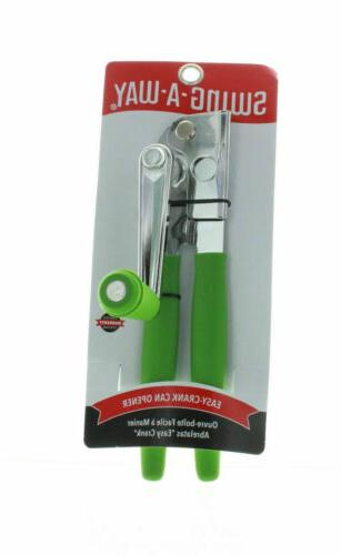 Swing-A-Way Super Easy Can Opener Comfort in Gray or Green