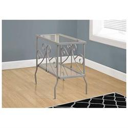 End Table, Silver