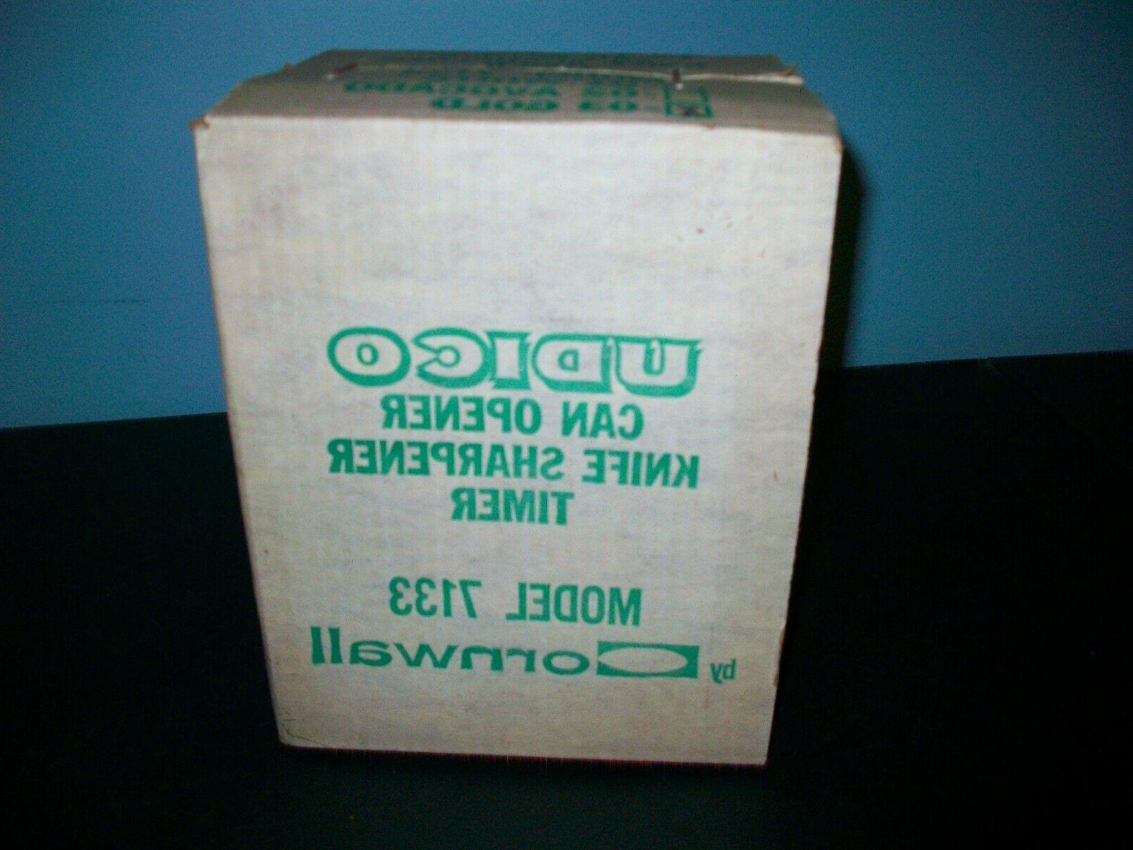 vintage gold udico electric can opener sharpener