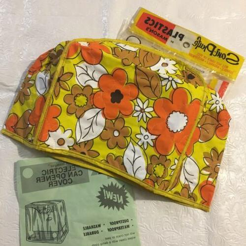 vtg 60 s mod flower power quilted