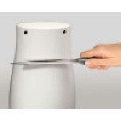 White Electric Durable Power Can Built In Knife