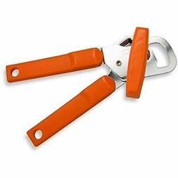 Left Handed Manual Can Opener, Orange Handle Kitchen &amp Di