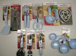 KitchenAid velvet light blue, blue ice kitchen utensils