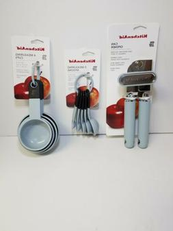KITCHENAID LIGHT SLATE   CAN OPENER MEASURING SPOONS & CUPS