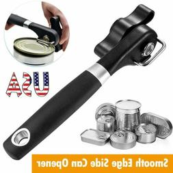 Manual Bottle Tin Can Opener Safe Cut Lid Smooth Edge Side S