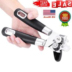 Manual Can Opener, Smooth Edge Safety Manual Tin Can Opener