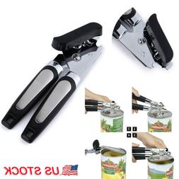 Manual Heavy Duty Tin Can Opener Safe Side Cut Lid Smooth Ed