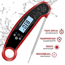 Meat Thermometer Digital Food Thermometer, Waterproof Instan