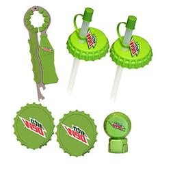 Jokari 6 Piece Mountain Dew Modern Logo Beverage Gadget Set