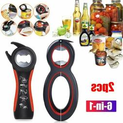 Multi All In One 6in1  jar Bottle Opener Kitchen Can Cap Lid