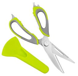 Bumud 2 Piece Multi-function Kitchen Scissors, Dishwasher Sa