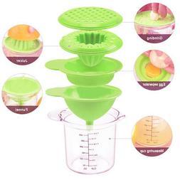 Multifunctional Kitchen Manual Grinder Egg Separator Juicer
