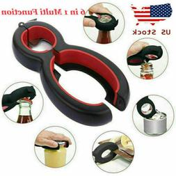 New 6 in 1 Multi Function Can Opener Bottle Openers Stainles