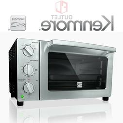 New Kenmore 6 Slice Black & Stainless Convection Toaster Ove