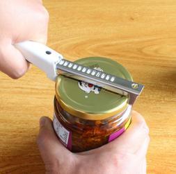 New Jar Lid Can Bottle Opener Stainless Steel Easy Grip Adju