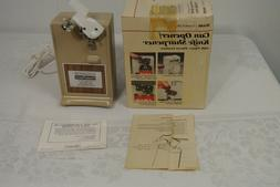 NEW! Vtg. SEARS Power-Pierce CAN OPENER & KNIFE SHARPENER TO