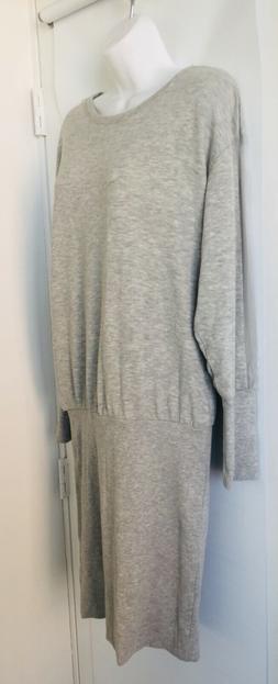 NWOT ZARA Grey SWEATER DRESS Sheer Long Sleeve Details Ribbe