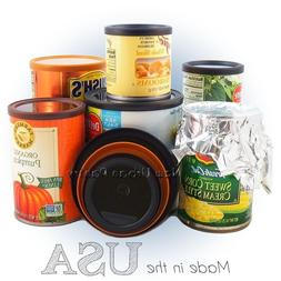 PANTRY LIDS Reusable Plastic Tin Can Covers/Couvercles for c
