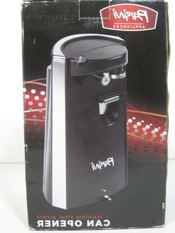 Parini Electric Can Opener Black/Stainless Smooth Touch